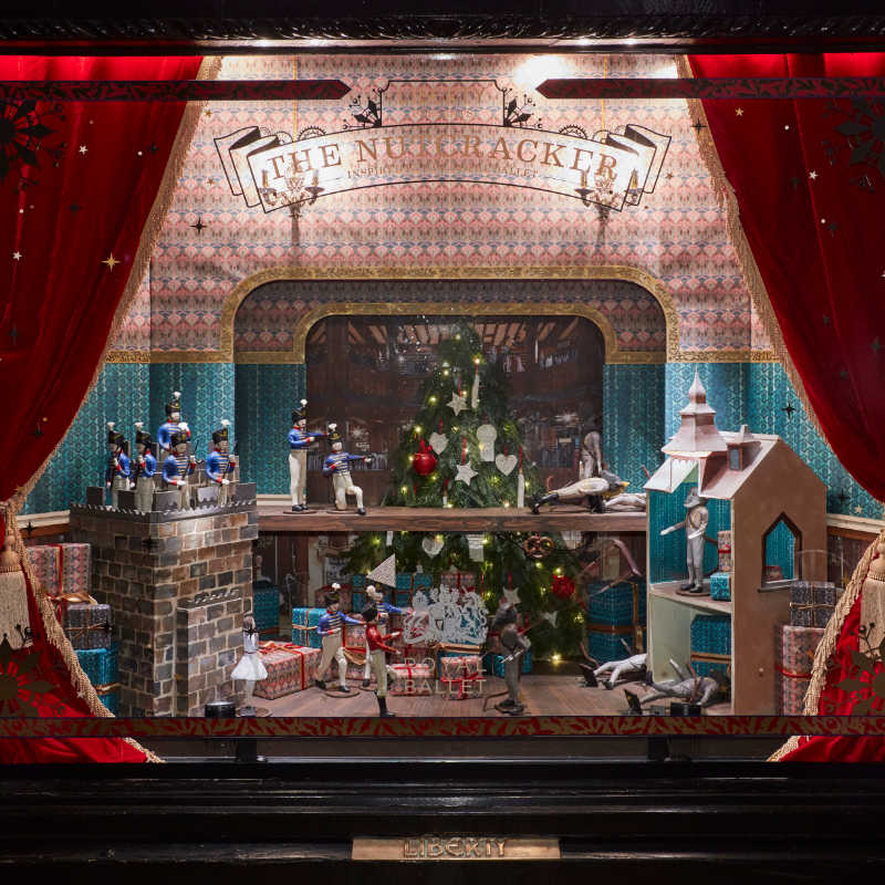 Liberty Xmas Window Dressing by Carla Jayne Batson