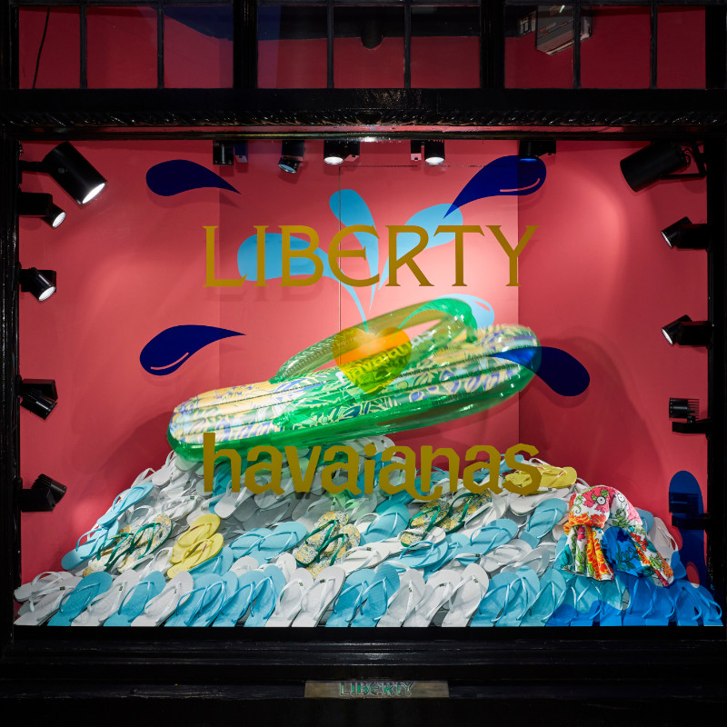 Havaianas at liberty window by carla jayne batson